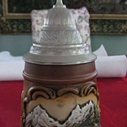 "King West Germany Beer Stein, ""Gruss Aus Den Bergen"""