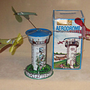 Vintage Tin Toy MINT in Box, Aerodrome Airport Control Tower