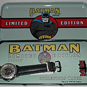 1994 Fossil &quot;Batman&quot; Limited Edition Watch and Pin Set