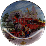 "REDUCED 1995 Bradford Exchange ""Disneyland Railroad"" Limited Edition Plate"