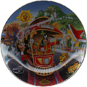 "REDUCED 1996 Bradford Exchange ""Mickeys Toontown"" Limited Edition Plate"