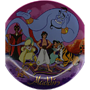 "REDUCED 1992 Disney ""Aladdin"" Commemorative 9 1/2 inch Limited Edition Plate"