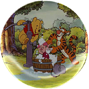 "1996 Disney Winnie the Pooh ""Troubles With Bubbles"" Limited Edition Plate"