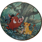 "SALE 1994 Lion King ""A Crunchy Feast"" Limited Edition Plate"