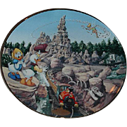 "1996 Disney ""Thunder Mountain Railroad"" Limited Edition Plate"