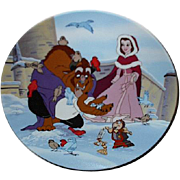 "1993 Beauty and the Beast ""Warming Up"" Limited Edition Plate"