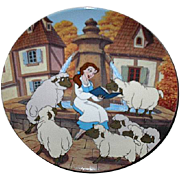 "1993 Beauty and the Beast ""Belle's Favorite Story"" Limited Edition Plate"