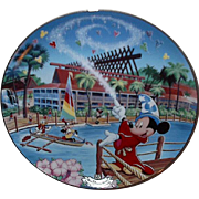 "1997 Disney ""South Seas Paradise; Polynesian Resort"" Limited Edition Plate"