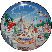 "1996 Disney ""Fantasyland"" Limited Edition Plate"