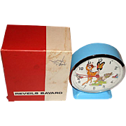 "Rare! 1950's French Bayard ""Bambi"" Motion Dial Alarm Clock MIB"