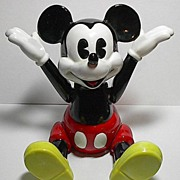 "SOLD 1970's Schmid ""Mickey Mouse"" Jointed Porcelain Music Box"