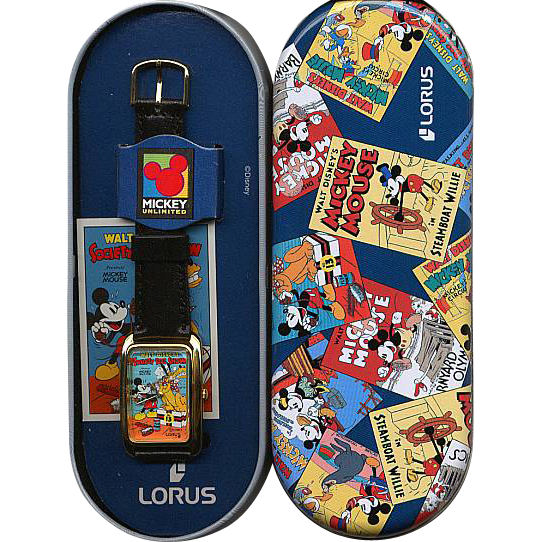 "1994 Lorus ""Society Dog Show"" Mickey Mouse Cartoon Watch"