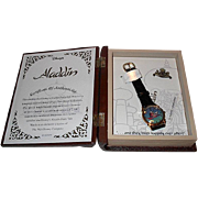 "SALE Spring Sale! 1994 Fossil ""Aladdin"" Limited Edition Fairy Tale Watch and Pin"