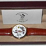 "SOLD 1990 Pedre ""Pinocchio; Never Tell A Lie"" Animated Dial Watch"