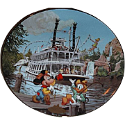 "1996 Disney ""Mark Twain Riverboat"" Limited Edition Plate"