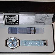 "SOLD 1998 Disney Time Works ""Tinkerbell"" Oversized Multi-Function Watch Set"