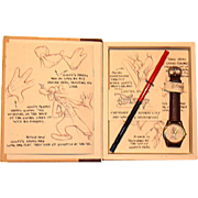 "1995 Fossil ""Sketches of Goofy"" Limited Edition Watch"