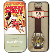 "1994 Fossil ""Pluto"" Animated Dial Disney Store Watch"
