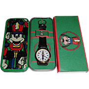 "1992 Fossil ""Goofy"" as a Nutcracker Christmas Watch"