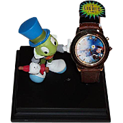 "1998 Fossil ""Pinocchio"" Collector Club VII Limited Edition Watch"