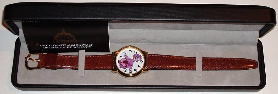 "1994 Fantasma ""Cheshire Cat"" from ""Alice in Wonderland"" Animated Dial Watch"