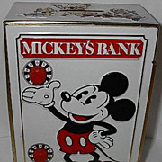 SOLD 1968 Fricke and Nacke &quot;Mickey Mouse&quot; Tin Lithograph Combination Bank
