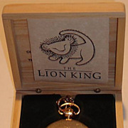 "SOLD 1994 Valdawn ""The Lion King"" Commemorative Edition Pocket Watch"