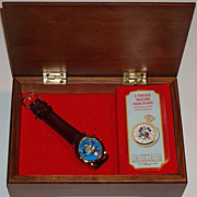 "1996 Fossil ""Aladdin"" Collector Club V Limited Edition Watch and Music Box"