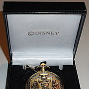 "SOLD 1996 Majesti ""Mickey Mouse"" Train Sounds ""Lily Belle"" Pocket Watch"