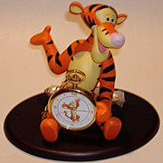 "1995 Fossil ""Tigger"" Pocket watch and Display Figurine"