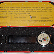 "2007 GB Solutions ""Mickey Mouse"" 20 Jewel Disney Shareholder Limited Edition Watch"