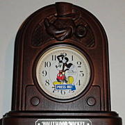 "SOLD 1988 Seiko ""Mickey Mouse"" as ""Hollywood Mickey"" Musical Alarm Clock"