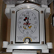 "1988 Seiko ""Minnie Mouse"" Carriage Case Musical Alarm Clock"
