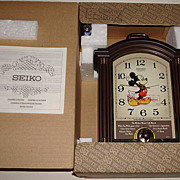 "1988 Seiko ""Mickey Mouse"" Carriage Case Musical Alarm Clock"