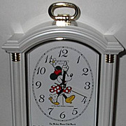 1988 Seiko &quot;Minnie Mouse&quot; Carriage Case Musical Alarm Clock
