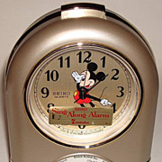 "1987 Seiko ""Mickey Mouse"" Musical Alarm Clock"