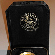"Rare! 1994 Seiko ""Mickey Mouse"" Man's Gold Dial Multi-Function Alarm Chronograph"