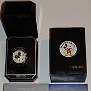 "Rare! 1994 Seiko ""Mickey Mouse"" Multi-Function Alarm Chronograph with Lumibrite Dial"
