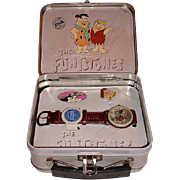 1993 Fossil &quot;Fred and Barney&quot; Flintstones Limited Edition Watch and Pin Set