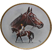 "SALE 1991 Fred Stone ""Kelso; Eddie Arcaro Up"" Limited Edition Plate"