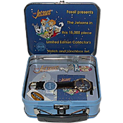 1993 Fossil &quot;Jetsons&quot; Limited Edition Watch and Pin Set