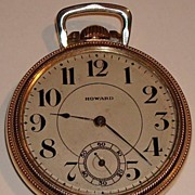 1902 Howard Series Three 17 Jewel Pocket Watch with 16 size Keystone Case