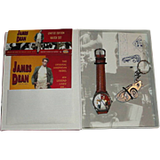 1994 Fossil &quot;James Dean&quot; Limited Edition Watch and Keychain