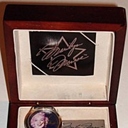 "1994 Fossil ""Marilyn Monroe"" Limited Edition Watch and Paperweight Set"
