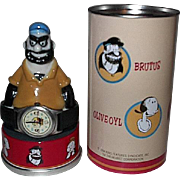 1994 Fossil:&quot;Popeye and Friends&quot; Limited Edition Watch and Bluto Display Figurine