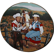 "1990 Hamilton collection ""Roy Rogers and Dale Evans"" Limited Edition Plate"