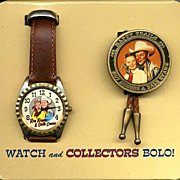 "Fathers Day Sale! 1994 Fossil ""Roy Rogers and Dale Evans"" Limited Edition Watch and"