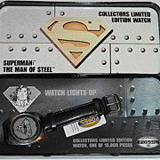 "1995 Fossil ""Superman"" The Man of Steel Limited Edition Watch"