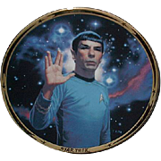 "SALE Fathers Day Sale! 1991 Hamilton Collection ""Spock"" Limited Edition Plate"