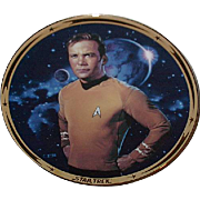 "SALE Fathers Day Sale! 1991 Hamilton Collection ""Captain Kirk"" Limited Edition Plate"